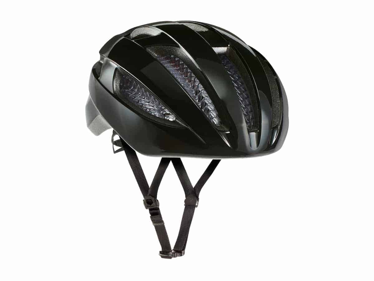 Bontrager black bike helmet.