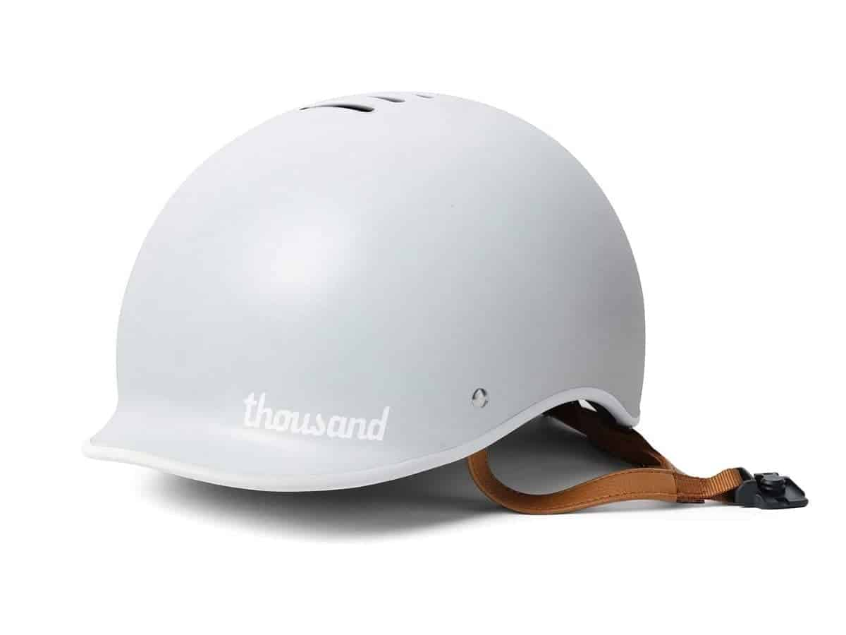 Grey Thousand Heritage bike helmet.
