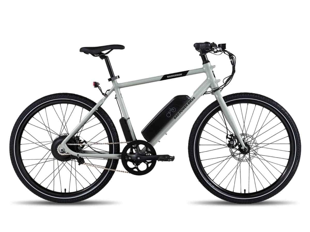 Grey RadMission e-bike.