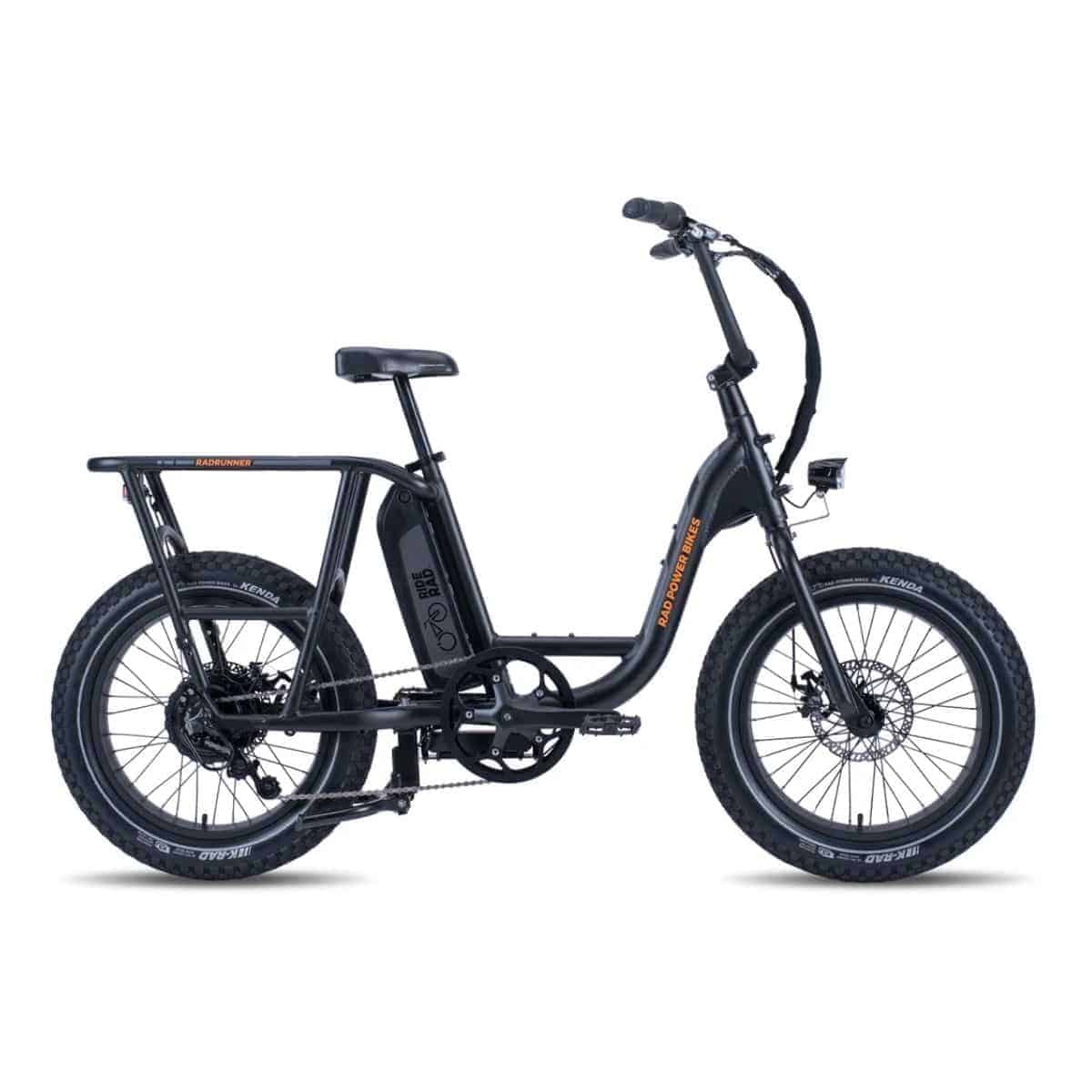 Side view of a RadRunner electric bike.