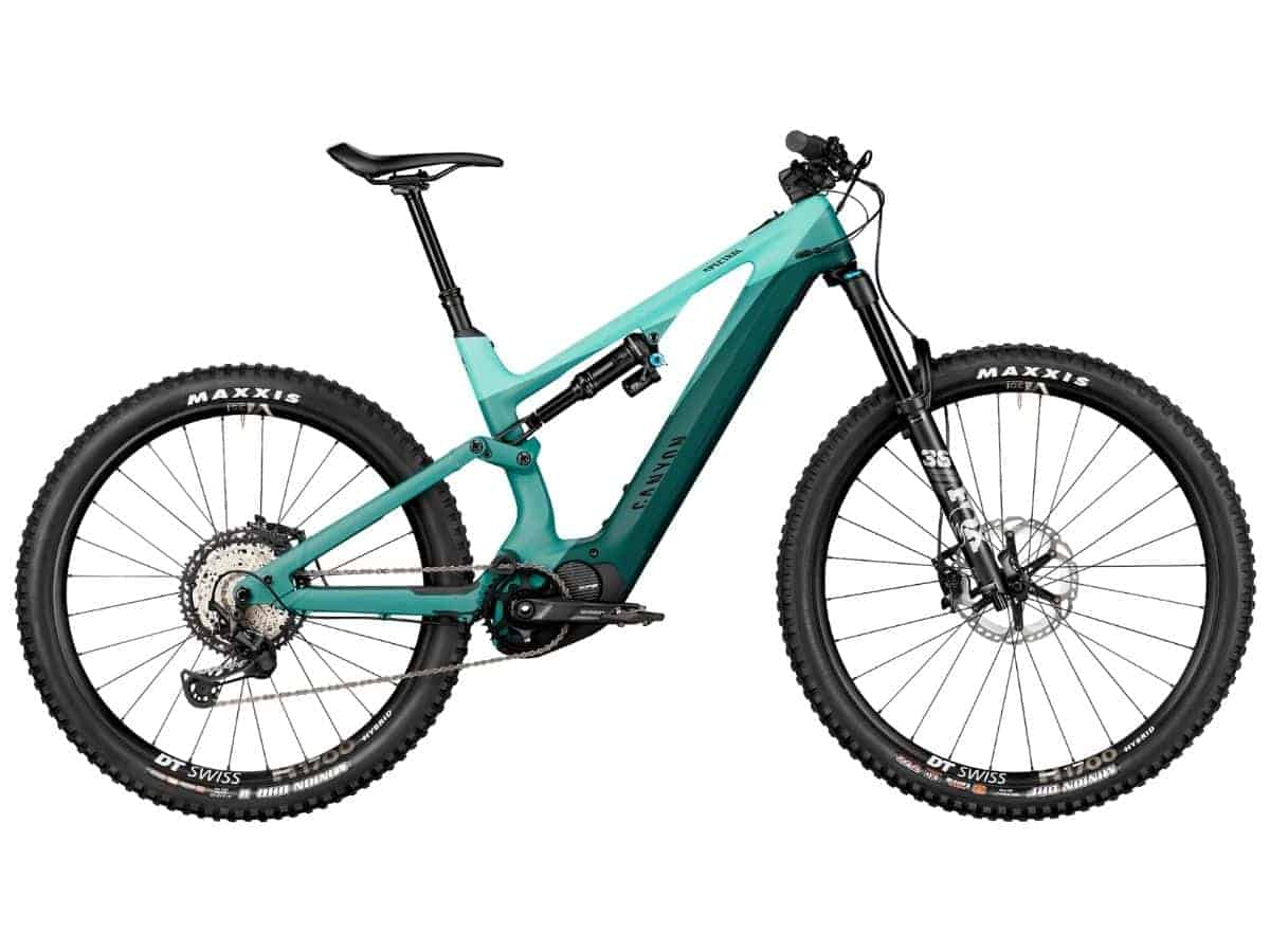 Side of Canyon Spectral electric mountain bike.