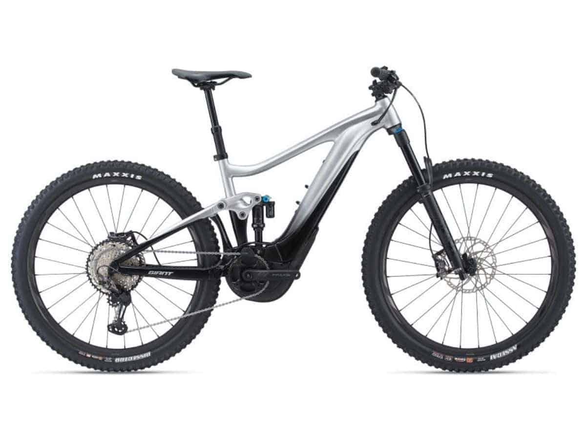 Side of a Giant Trance X electric mountain bike.