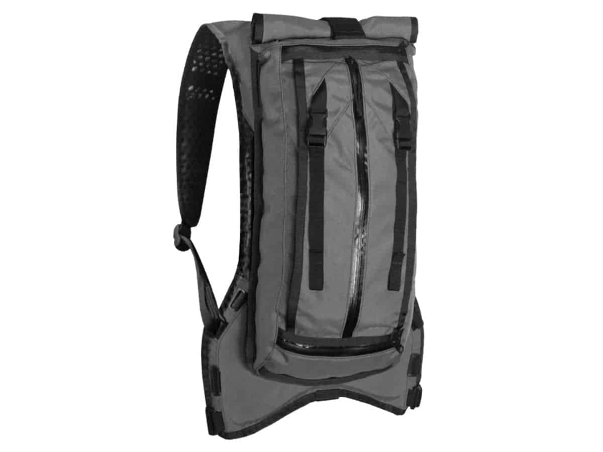 The Hauser grey hydration pack.