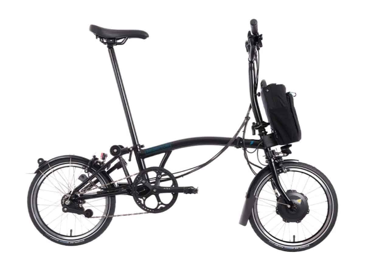 Brompton M6L folding electric bike.