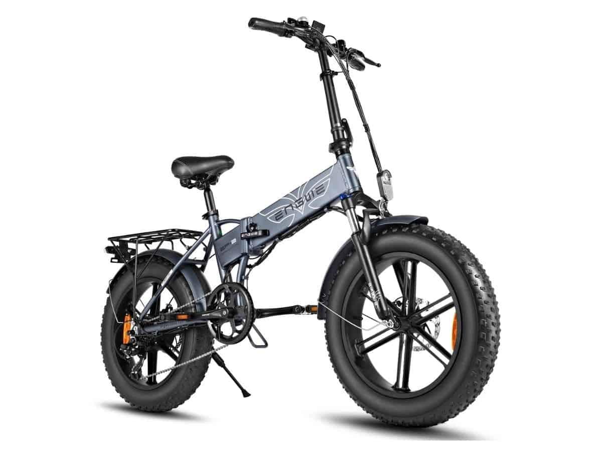 Grey Engwe fat tire folding electric bike.
